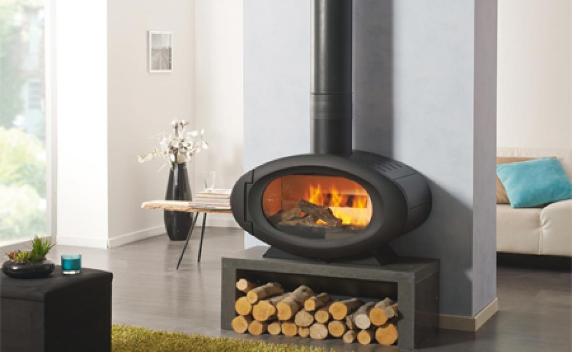 fb4ab116b9056d Poêle à bois étanche ETIVAL Volume chauffé   130 à 330 m3 Puissance  9 Kw. godin  28